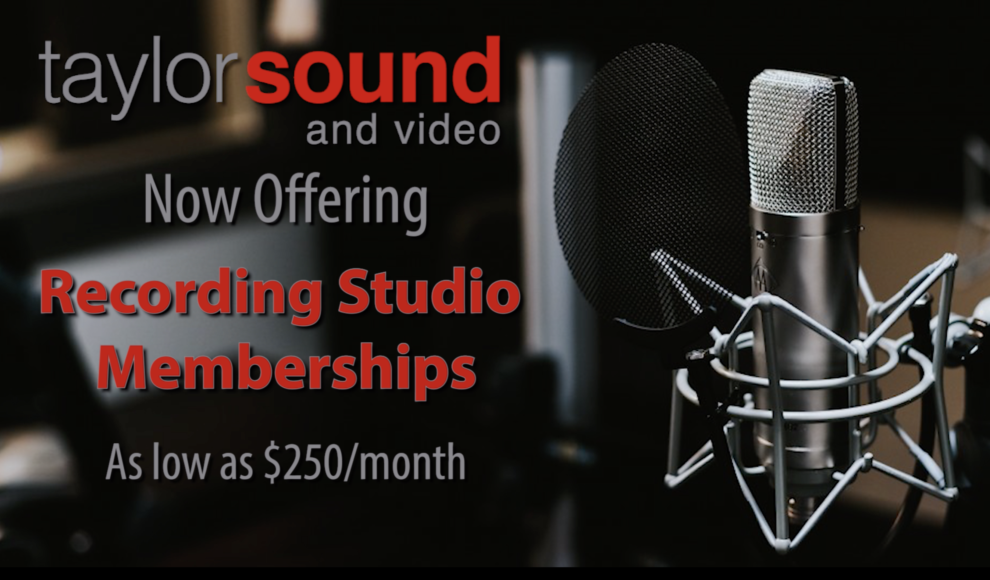 New DIY Recording Packages – Record your own projects at Taylor Sound.